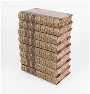 Sale 8342A - Lot 142 - A set of eight antique leather bound and tooled volumes of Lodges Portraits