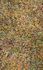 Sale 8413A - Lot 5007 - Margaret Scobie (c1948 - ) - Bush Medicine Leaves 149 x 93cm (stretched & ready to hang)