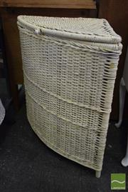 Sale 8532 - Lot 1294 - Pair of Wicker Corner Laundry Hampers