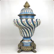 Sale 8795K - Lot 27 - A Sevres C19th lidded urn
