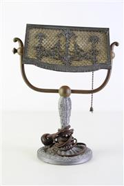 Sale 8944T - Lot 696 - Small bankers lamp (H31cm)