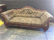 Sale 9009 - Lot 1018 - Mahogany Framed Double Ended Settee (h:82 x w:188cm)