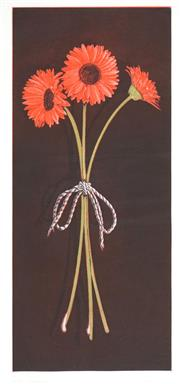 Sale 8475 - Lot 574 - Peter Hickey (1943 - ) - Gerbera, 1993 58 x 25cm