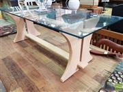 Sale 8550 - Lot 1463 - T.H Brown Glass Top Coffee table