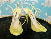 Sale 8577 - Lot 136 - A pair of designer Sophia Webster leather strappy stilettos, size 41, Condition: As New
