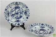 Sale 8563 - Lot 261 - Pair Of Wanli Marked Blue And White Chinese Dishes Featuring Animals