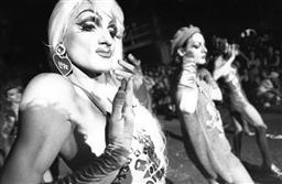 Sale 9082A - Lot 5036 - Dancers, Sydney Gay and Lesbian Mardi Gras Parade (1993), 30.5 x 20 cm, silver gelatin, Photographer: unknown