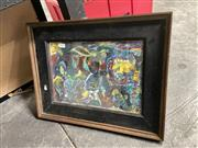 Sale 8910 - Lot 2059 - Artist Unknown - Story of Two...1992 mixed media on paper, unsigned -