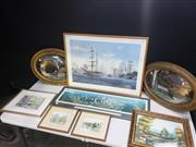 Sale 8958 - Lot 2073 - Assorted Group of (8) Artworks and Prints incl: signed and editioned print by J Steven Dews Australia Day 65 x 98cm (frame), signed