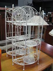 Sale 7932A - Lot 1189 - Pair Of White Metal Shelves