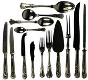 Sale 8057 - Lot 18 - English Hallmarked Sterling Silver Elizabeth II Cutlery Setting