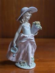 Sale 8313A - Lot 69 - A Lladro Collectors Edition figure of a Lady with a Basket of flowers and a Watering Can, incised number 7676, height 24cm