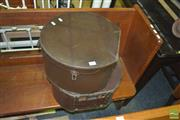 Sale 8331 - Lot 1489 - Two Leather Hat Boxes