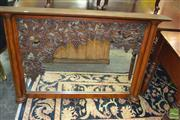 Sale 8431 - Lot 1026 - Large Over Mantle in Oak with Heavily Carved Grape Decal