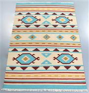 Sale 8438K - Lot 72 - Jaipur Veggie Dye Kilim Rug | 250x150cm, Pure Wool, Handwoven in Rajasthan, India with a pure NZ wool composition. Fully reversible ...