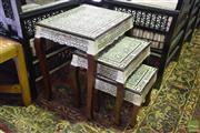 Sale 8532 - Lot 1179 - Nest of 3 Inlayed Occasional Tables