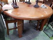 Sale 8580 - Lot 1089 - Round Oak Dining Table