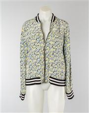 Sale 8740F - Lot 168 - An Equipment Femme printed floral silk bomber jacket, size S/P