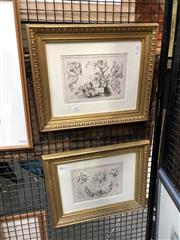 Sale 8833 - Lot 2046 - Pair of C18th French Engravings