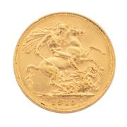 Sale 8855H - Lot 58 - 1910 gold sovereign weight approx 7.95g, S above 1910