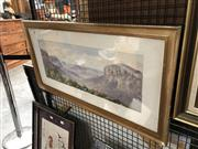 Sale 8856 - Lot 2027 - Artist Unknown Blue Mountains Signed Lower Left (80 x 41cm)
