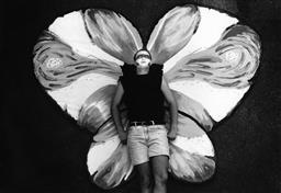 Sale 9082A - Lot 5042 - Butterfly, Sydney Gay  and Lesbian Mardi Gras Parade (1993), 29 x 21 cm, silver gelatin, Photographer: Kate Callas