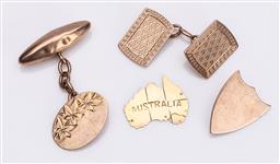 Sale 9180E - Lot 110 - A collection of mostly 9ct cufflinks