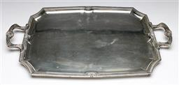 Sale 9175 - Lot 4 - Large 800 Silver Butlers Tray (Wt 1936g ) (57 x 35 cm)