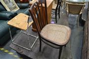 Sale 8013 - Lot 1175 - Chair and Industrial Stool