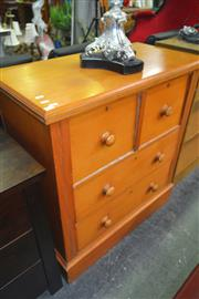 Sale 8175 - Lot 1076 - Pine Chest of 4 Drawers
