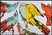 Sale 8282A - Lot 57 - David Bromley (1960 - ) - Birds 79.5 x 120cm