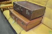Sale 8312 - Lot 1055 - Two Vintage Suitcases