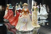 Sale 8322 - Lot 5 - Royal Doulton Figures Autumn Stroll, Winters Day & Georgia