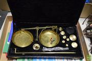 Sale 8530 - Lot 2282 - Set of Scales in Case