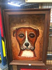 Sale 8707 - Lot 2055 - E Milne - Dog, oil on board, SLR