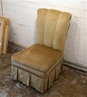 Sale 8734A - Lot 17 - An early upholstered Nursing Chair with storage compartment