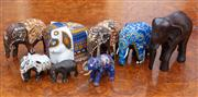 Sale 8815A - Lot 67 - A small quantity of Elephants including pottery, timber and inlaid