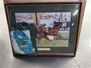 Sale 8969 - Lot 2092 - ROGAN JOSH 1999 MELBOURNE CUP signed by John Marshall and Bart Cummings, with original silks worn in the Melbourne cup race
