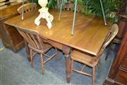 Sale 8105 - Lot 1084 - Country Dining Setting inc Draw Leaf Table & 4 Chairs