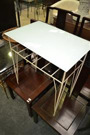 Sale 8115 - Lot 1178 - Glass Top Table on Metal Base & Marble Top Table