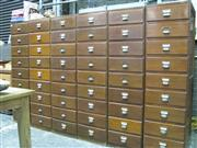 Sale 8250B - Lot 1620 - A Significant Sea Shell Collection. Over 1000 labelled specimens including many rare examples, all housed in six oak filing cabinets...