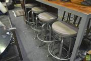Sale 8277 - Lot 1072 - Set of Four Adjustable Swivel Stools with Zinc Finish
