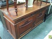 Sale 8412 - Lot 1062 - Oak Sideboard with Two Doors and Drawers