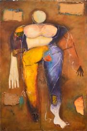 Sale 8732A - Lot 5077 - Stanley Perl (1942 - ) - Abstract Lady 93 x 61cm