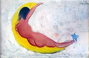 Sale 8442A - Lot 1 - Charles Blackman (1928 - ) - The Wish 25 x 37cm