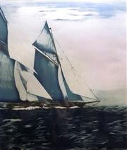 Sale 8563T - Lot 2035 - G. Allen - Maritime Scene limited edition print, 60 x 53cm (frame), signed lower right