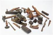 Sale 8658 - Lot 42 - A box of assorted wooden tools, approx 20 pieces