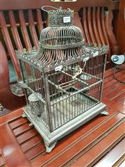 Sale 8769 - Lot 1014 - Small Decorative Birdcage