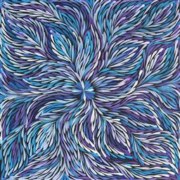 Sale 9170 - Lot 588 - JANET GOLDER KNGWARREYE (1973 - ) Yam Leaf acrylic on canvas 58 x 54 cm (stretched and ready to hang) certificate of authenticity in...