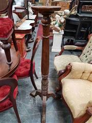 Sale 8925 - Lot 1086 - A carved timber jardiniere stand on tripod base